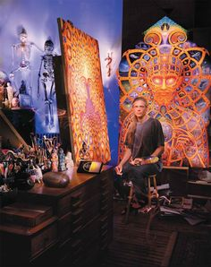 Alex Grey: Artist of Love and Wisdom Alex Grey, Alex Gray Art, Psychedelic Art, Ohio, Tenacious D, Psy Art, Process Art, Visionary Art, Street Art