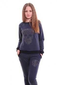 Спортивный костюм А3632 Размеры: 42,44,46,48,50 Цвет: синий Цена: 1200 руб.  http://optom24.ru/sportivnyy-kostyum-a3632/  #одежда #женщинам #спортивныекостюмы #оптом24