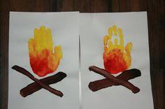 basteln mit kindern kreative idee für feuer