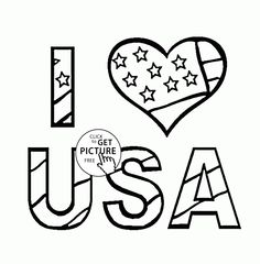 i love usa independence day coloring page for kids coloring pages printables free