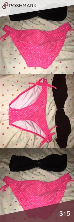 Bakini strapless bathing suit really cute Both bottom and top are the same size large Wet Seal Swim Bikinis
