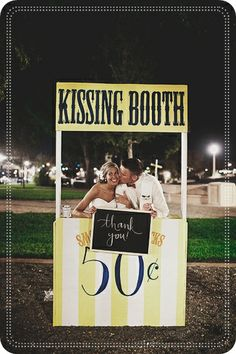 Un kissing booth en tu boda #boda #ideas