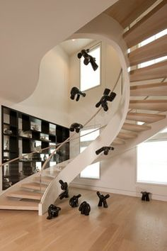 The Shores - contemporary - staircase - other metro - Michael G Imber, Architects