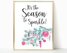 Holiday decor, calligraphy print, christmas wall art, art print, gift for her, Christmas quote, teen room decor, dorm room, christmas decor