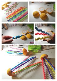 Rainbow jellyfish steps - CraftsbyAmanda.com