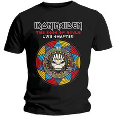 AMPLIFIED IRON MAIDEN THE BOOK OF SOULS MENS BLACK T-SHIRT *REDUCED*