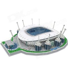 3D Etihad Stadium Football Field Model Puzzle for Children - White + Blue + Multicolor - From 34,95 for Euro 23,10