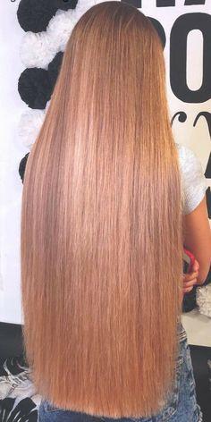 Long Brown Hair, Very Long Hair, Bun Hairstyles For Long Hair, Straight Hairstyles, Beautiful Long Hair, Gorgeous Hair, One Length Hair, Silky Smooth Hair, Red Hair Woman