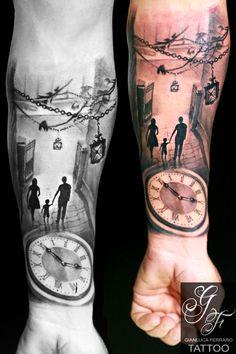#tattooartwork #tattoopassion #bestoftheblackandgray #tattoocampania #tatuaggibiancoenero #migliore #tattoosculpture #londonart #londontattoo #tattoonaples #napolitattoo #londonartist #londonink #bestink #londontattooartist #clock #watch #street #tattoofamily #tattooclock #tattoowatch #family #son #love #passion #tattoofather