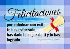 felicidades por graduación, grado, feliz graduación Graduation Images, Graduation Cards, Graduation Invitations, Birthday Greetings, Birthday Cards, Happy Birthday, Jw News, Congratulations Graduate, Lets Celebrate