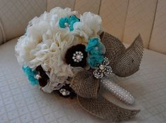 """VIntage Inspired Bridesmaid Brooch Bouquet 5"""" on Etsy, $80.00"""
