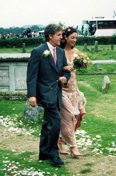 Sir Paul And Daughter Mary On Her Wedding Day