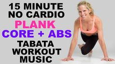 15 Minute No Eqipment Plank, Core + Abs Tabata Workout, Plank Variations + Exercises - YouTube