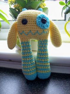 Egbert the amigurumi monster crochet collectable toy by Hippywitch, £12.00