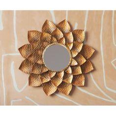 Antiqued Gold Metal Petal Layered Flower Wall Mirror Metal Wall Flowers, Flower Wall, Gold Walls, Metal Walls, Mantel Mirrors, Wall Mirrors, Gold Furniture, Furniture Decor, Gold Wall Decor