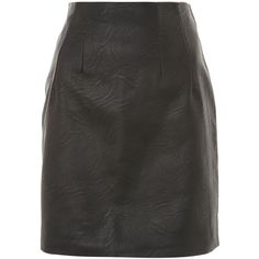 Topshop Tall Highwasted Faux Leather Skirt (2.015 RUB) ❤ liked on Polyvore featuring skirts, black, topshop skirts, faux-leather skirts, leather look skirt, fake leather skirt and tall skirts