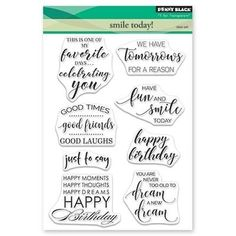 Penny Black Time to Celebrate Clear Stamps 5X7