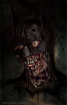 """Zombie Batman - From the series """"What would Batman look like if he existed in different time periods?"""""""
