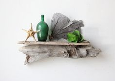 Large Sculptural Natural Driftwood Shelf by OceanSwept on Etsy, $93.00