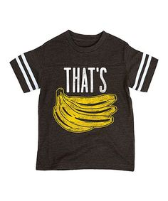 Black 'That's Bananas' Football Tee - Toddler & Boys #zulily #zulilyfinds