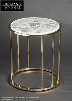 http://www.tincanigiuliano.com/round-side-table-with-hyaline-quartz/