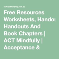 Free Resources Worksheets, Handouts And Book Chapters Cbt Therapy, Therapy Worksheets, Therapy Tools, Behavioral Therapy, Therapy Activities, Stroke Therapy, Play Therapy, Therapy Ideas, Psychology Resources
