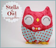 Stella the Owl Sewing Pattern - PDF Pattern with Step-by-Step Photos and Easy Instructions.