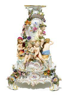 A Meissen porcelain compote pedestal base on stand late century Porcelain Dolls For Sale, Porcelain Jewelry, Porcelain Ceramics, China Porcelain, Porcelain Tiles, Japanese Tea Set, Louvre, European Furniture, Antique Auctions
