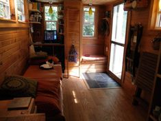 With two sleeping lofts, the living space is about 360 square feet. Photo from Hari Berzins, used with permission.