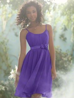 Alfred Angelo bridesmaid dress. Part of the Disney Royal Maiden collection. Style 504 in Purple Storm.