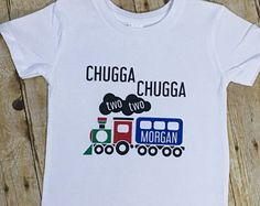 Chugga Chugga Two Two Shirt - 2 Year Old Shirt - Train Birthday Shirt - Personalized Birthday Shirt - Train Lover Shirt - Two Year Old Party