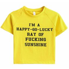 Fucking Sunshine Crop Tee