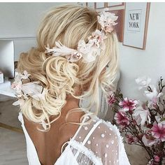 Beautiful bridal #hairstyle by @ulyana.aster 😍😍