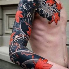 Japanese tattoo sleeve by slava starkov japaneseink japanesetattoo irezumi tebori uncategorized blxck ink on whats your favorite tattoo 1 8 by freeorgy usa new york ny blxckink_usa blxckink_usny blxckink submit your works Traditional Japanese Tattoo Sleeve, Japanese Hand Tattoos, Tattoo Japanese Style, Japanese Tattoo Women, Japanese Tattoo Symbols, Japanese Tattoo Designs, Chinese Tattoos, Japan Tattoo Design, Tattoo Traditional
