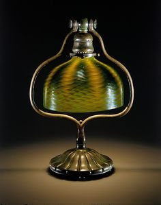 Electric Lamp 1902-12 Glass and bronze Designed by Louis Comfort Tiffany