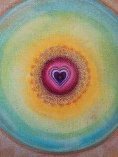 Heart Mandala  Original  Painting OOAK by Mandality on Etsy, $38.00