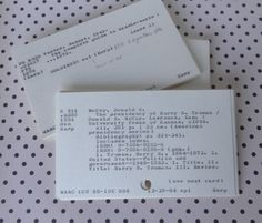 Vintage Library Catalog Index Cards, Library of Congress Classification (LCC) System for Collage, Scrapbook, Assemblage, Altered Art