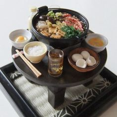 Japanese miniature food #miniaturefood #miniaturedrink