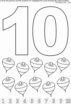 Kids Math Learning, Kids Math Activities, Numbers with Pictures - Nursery Math Printable Exercise -10