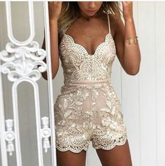 Shine Bright Like A Diamond Romper in Gold Delicate Nude MeshGold Embroidery . Shine Bright Like A Diamond Spielanzug in Gold Zarte nackte meshGold Stickerei …. Shine Bright Like A Diamond Gold Playsuit Delicate Nude MeshGold Embroidery … – Hoco Dresses, Pretty Dresses, Homecoming Dresses, Homecoming Romper, Kleidung Design, Look Fashion, Fashion Outfits, Spring Fashion, Mode Inspiration