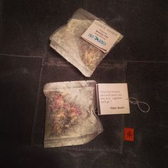 tea & poetry...Tyler Knott Gregson put some of his poems on tea bags. Possibly the best combination ever.