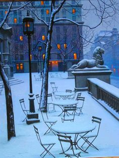 In Winter New York Public Library, United States