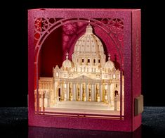 Pop up Card Saint Peter's Basilica Roma 3d card by ColibriGift