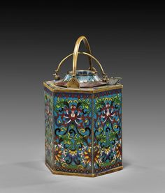 ANTIQUE CHINESE CLOISONNÉ WINE POT ~Repinned Via Sue Causey