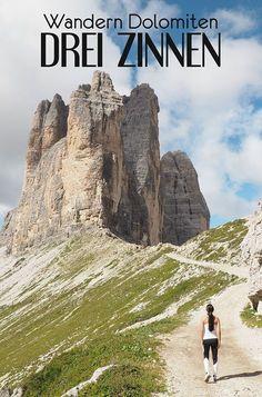 Wanderung um die drei Zinnen in den Dolomiten, Südtirol #dolomiten #dolomites #dreizinnen #wandern #südtirol