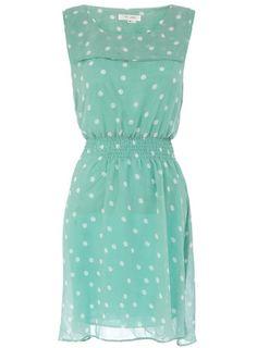 Polka dot pastel dress by Dorothy Perkins