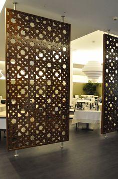 paneles de celosias, celosias decorativas modernas, celosias arquitectura, separadores de ambientes, arte en celosias, celosias a medida o standard