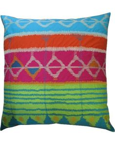 Incorporate some color with this bright ikat inspired pillow! Get it here: http://www.bhg.com/shop/koko-company-koko-company-java-bright-22-x-22-decorative-pillow-p50936e0ee4b03f3db75c3b98.html