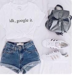 cute summer outfits that looks trendy. Teenage Outfits, Teen Fashion Outfits, Mode Outfits, Girl Outfits, Tween Fashion, Girl Fashion, Fashion Clothes, Teenager Fashion, Womens Fashion