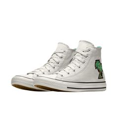 c4b7422081 Custom Chuck Palm Tree Patch Egret High Top Shoe Custom Converse, Custom  Shoes, Converse